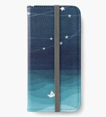 Garland of stars, teal ocean iPhone Wallet/Case/Skin
