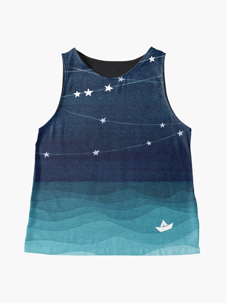Alternate view of Garland of stars, teal ocean Sleeveless Top