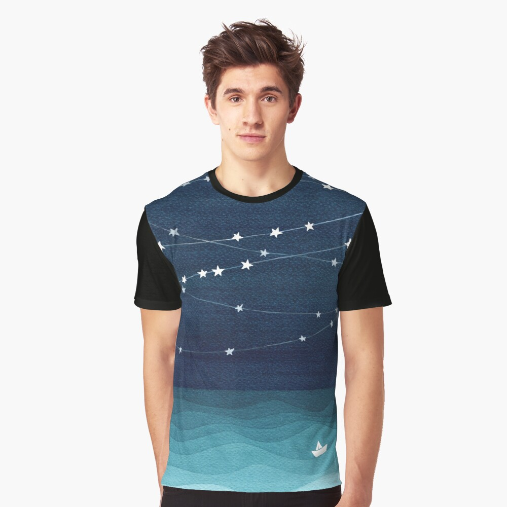 Garland of stars, teal ocean Graphic T-Shirt