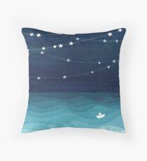 Garland of stars, teal ocean Floor Pillow