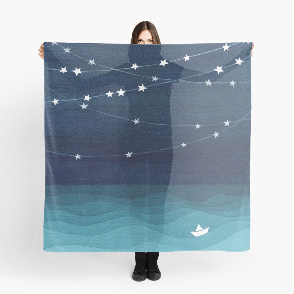 Garland von Sternen, aquamariner Ozean Tuch