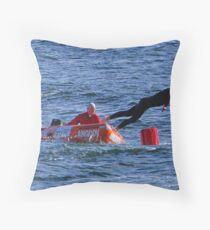 Racing at Penguin (52) Throw Pillow