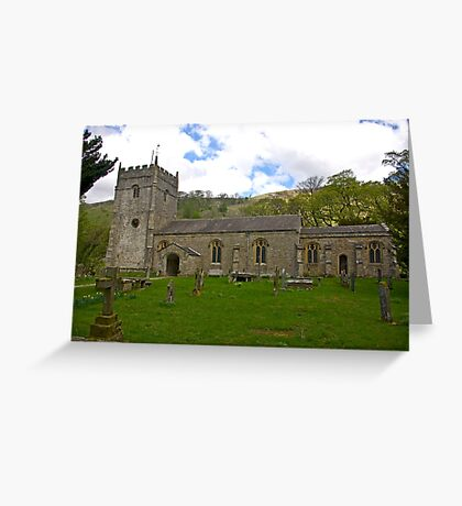 St Oswald's Church - Arncliffe Greeting Card