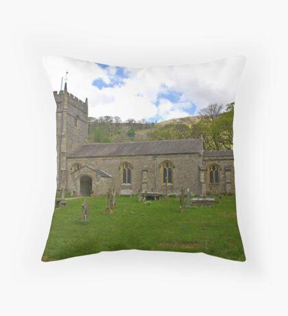 St Oswald's Church - Arncliffe Throw Pillow