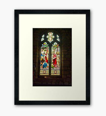 Window #1 - St Oswald's Church - Arncliffe Framed Print