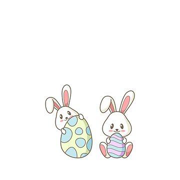 Hunting Season Easter Rabbit Eggs Cute Bunny  by TrendJunky