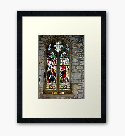Window #3 - St Oswald's Church - Arncliffe Framed Print