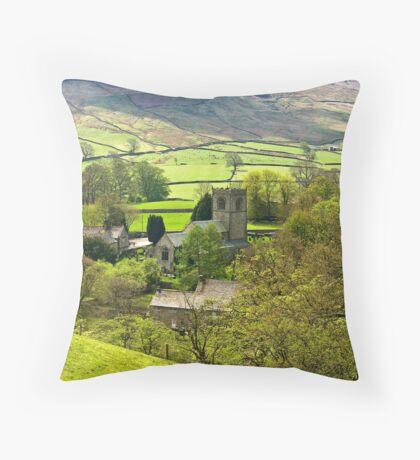 The Village Church at Burnsall Throw Pillow