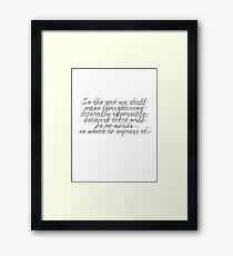 Thoughtcrime Framed Print