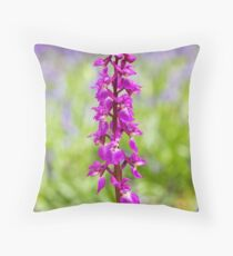 Early Purple Orchid Throw Pillow
