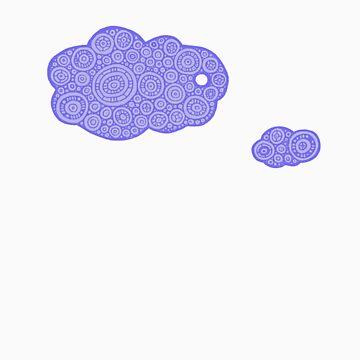 Happy Little Clouds by MKMasonArts