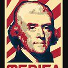 Thomas Jefferson Merica Retro Propaganda by idaspark