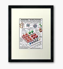 Physics Standard Model Theory  Framed Print