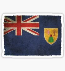 Old and Worn Distressed Vintage Flag of Turks and Caicos Sticker