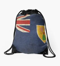 Old and Worn Distressed Vintage Flag of Turks and Caicos Drawstring Bag
