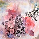 Floral Splash #2 - Raspberry Rhapsody by Gillian Cross