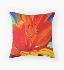 Big Orange Lily Throw Pillow
