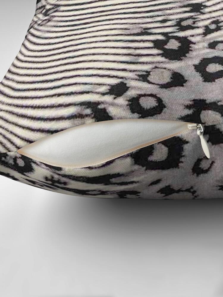 Alternate view of Faux Fur, Leatherette, Leopard/Zebra Combination Throw Pillow