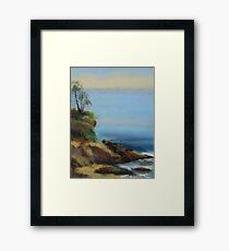 Diver's Cove, Laguna Beach  Framed Print