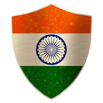 India Flag Shield Art by ockshirts