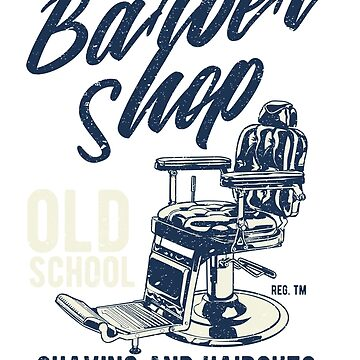 Downtown barber shop old school by designhp