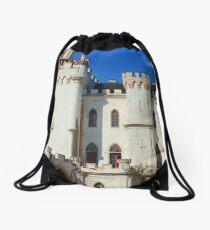 White castle Drawstring Bag