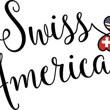 Swiss American Heart Flag by Celticana