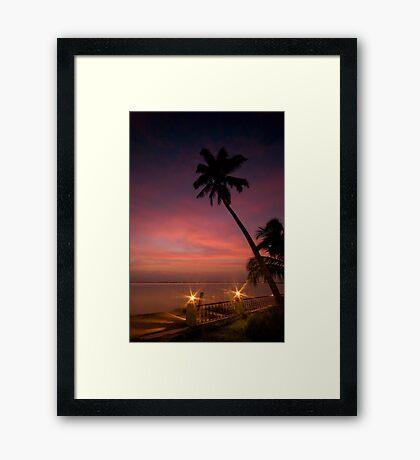 Vembanad Sunset Framed Print
