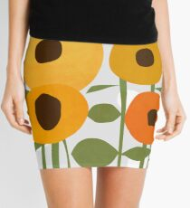 Sunflowers Mini Skirt