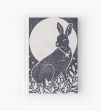 Hare and Moon Lino Print Hardcover Journal