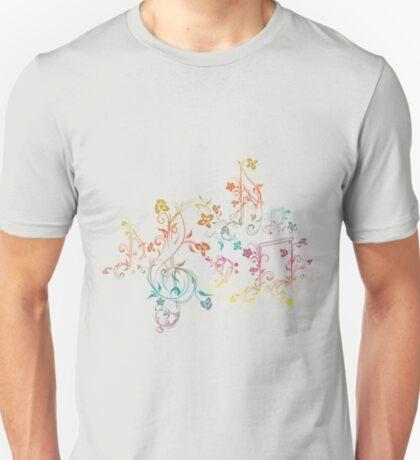 Blumenmusiknoten 2 T-Shirt
