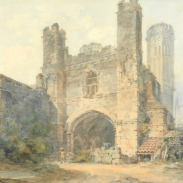"Joseph Mallord William Turner ""Saint Augustine's Gate, Canterbury"" by ALD1"