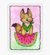 Melon Coyote - Clothing and Stickers! Transparent Sticker
