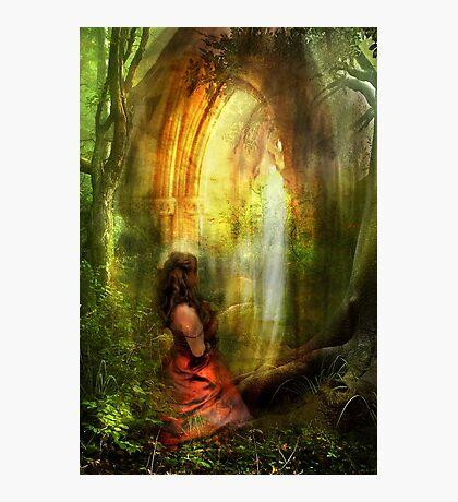 She Prayed with Prayer Photographic Print