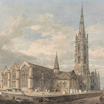 "Joseph Mallord William Turner ""North East View of Grantham Church, Lincolnshire"" by ALD1"