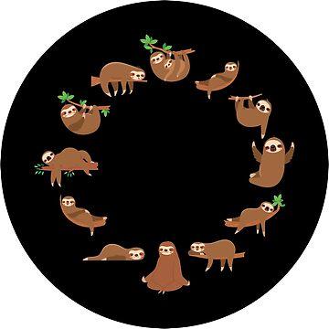 12 Sloth Clock by KsuAnn