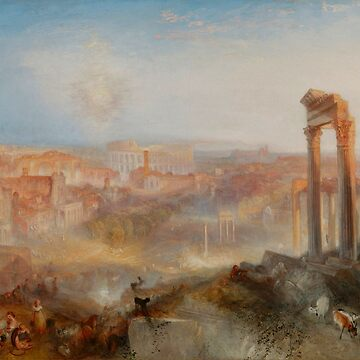 "Joseph Mallord William Turner ""Modern Rome – Campo Vaccino"" by ALD1"
