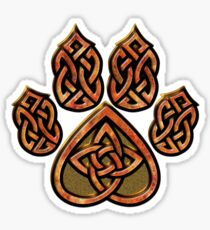 Celtic Knot Pawprint - Red Sticker