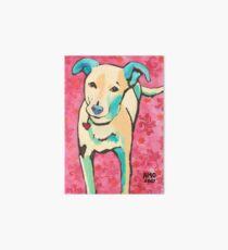 Zoe with Pink Pattern Art Board