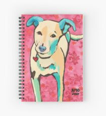 Zoe with Pink Pattern Spiral Notebook