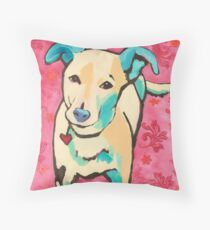 Zoe with Pink Pattern Throw Pillow