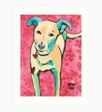 Zoe with Pink Pattern Art Print