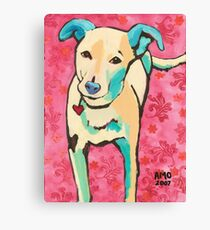 Zoe with Pink Pattern Canvas Print