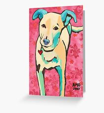 Zoe with Pink Pattern Greeting Card