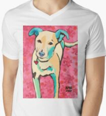 Zoe with Pink Pattern Men's V-Neck T-Shirt
