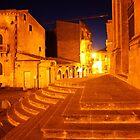 Stairs of Gold. The Duomo, Enna, Sicily, Italy. 2011 by Igor Pozdnyakov