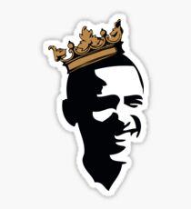 OBAMA CROWN**BLK & GOLD  Sticker