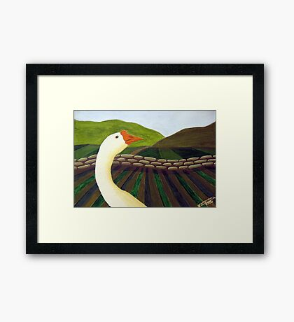310 - THE LONE GOOSE - DAVE EDWARDS - ACRYLIC - 2010 Framed Print