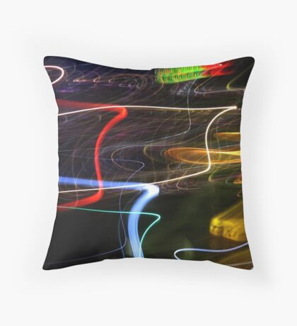 Lights on the Harbour Throw Pillow