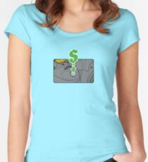 The Money Shot! Women's Fitted Scoop T-Shirt